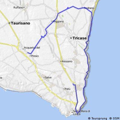 Aquarica - Gagliano (con treno Sud-Est)
