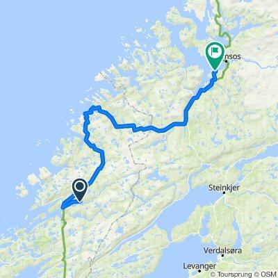 Norskekysten sør til nord etappe 4.2 20/7: Langnesodden Camping - Camping Selnes,