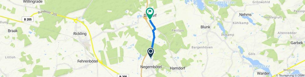 Lehwisch 30, Negernbötel nach Dorfstraße 7A, Daldorf