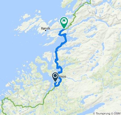 Norskekysten sør til nord etappe 4.3 21/7: Camping Selnes - Kolvereid