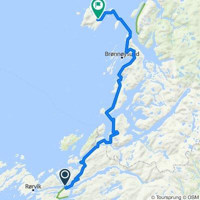 Norskekysten sør til nord etappe 4.4 22/7: Kolvereid til Horn ferjeka - Vega