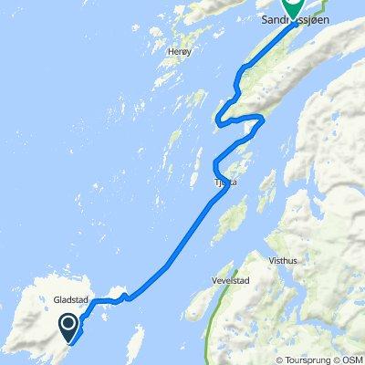 Norskekysten sør til nord etappe 4.5 24/7:Horn Ferjekai - Sandnessjøen,
