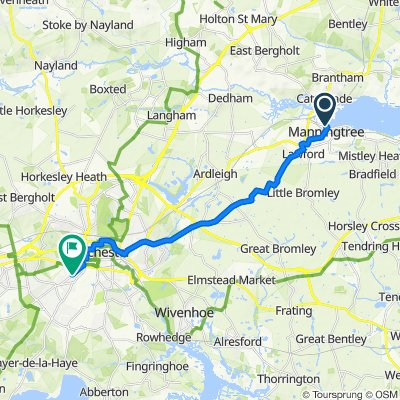manningtree to colch