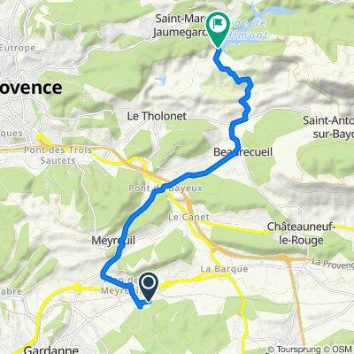 Itinéraire à partir de 250 Chemin de Meyreuil à Fuveau, Fuveau