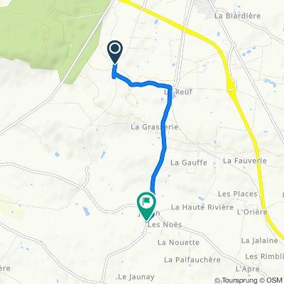 Sainte-Croix, Retiers naar D107, Coësmes
