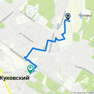 От лрослект Садовьій 2-й 407, Кратово до улица Семашко 5, Жуковский