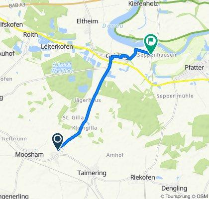 Langsame Fahrt in Mintraching