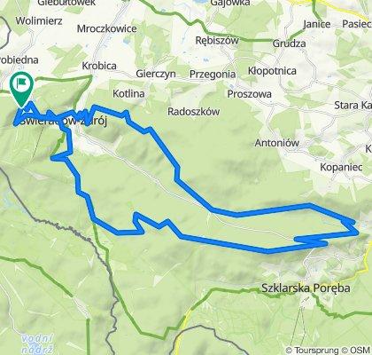 Czerniawa-Polana Izerska- Zakręt śmierci-60km