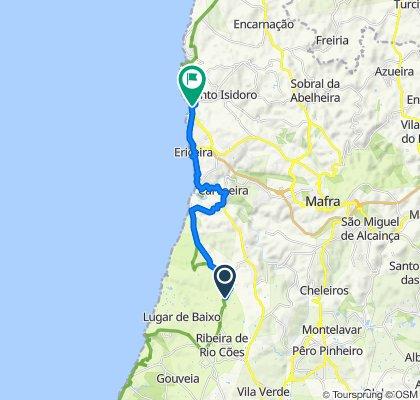 De Estrada das Areias 10–12, Sintra à N247, Mafra