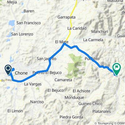 De Avenida Marcos Aray Dueñas, Chone a Unnamed Road