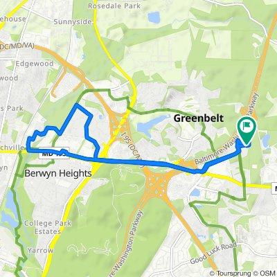 Restful route in Greenbelt