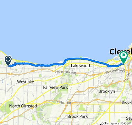30322 Ashton Ln, Bay Village to 1979 W 25th St, Cleveland