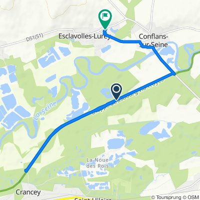Itinéraire vers 2 Impasse du Ru de la Pierre au Lavoir, Esclavolles-Lurey