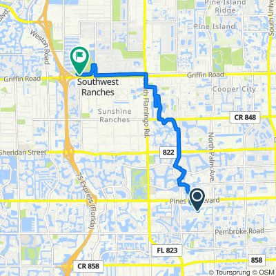 10420 SW Eighth St, Pembroke Pines to 4001 SW 142nd Ave, Davie