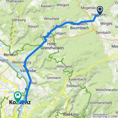 Stetzelmannstraße 22, Siershahn nach Emil-Schüller-Straße 47, Koblenz