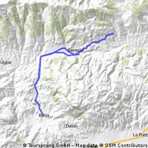 Berja-Laujar de Andarax-Fondón-Beires-Ohanes-Beires-Fondón-Berja