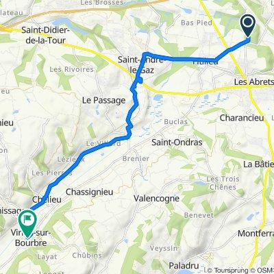 198 Chemin des Bruyères, Fitilieu nach 4–10 Rue du Vallon de Lamartine, Virieu