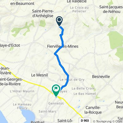 De Vierge de la Lande 21, Fierville-les-Mines à D264, Portbail