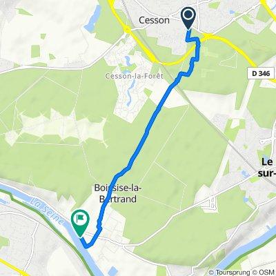 Itinéraire modéré en Boissise-la-Bertrand