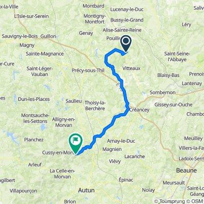 Altern Villeferry to Lucenay eveque