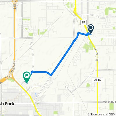 Relaxed route in Spanish Fork
