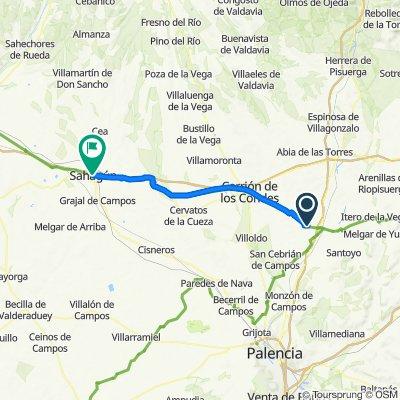 Da Carretera de Carrión a Lerma, Población de Campos a Calle de la Alhóndiga, 7, Sahagún