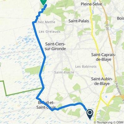 De Route des Mathas 16, Étauliers à Au Chêne Vert, Saint-Bonnet-sur-Gironde