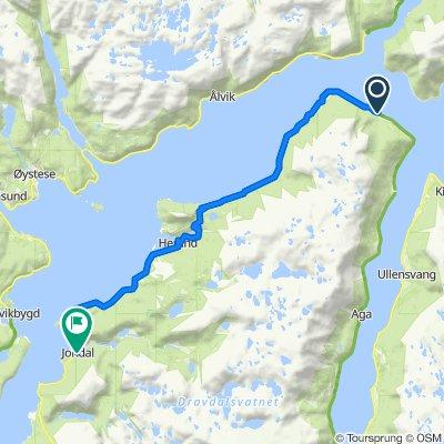 Fjordavegen 4151, Utne to Jonavegen, Jondal