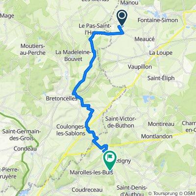 Itinéraire vers 5 Les Mesnils, Marolles-les-Buis