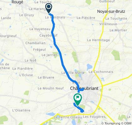 D36 13, Rouge naar La Ville en Bois, Châteaubriant