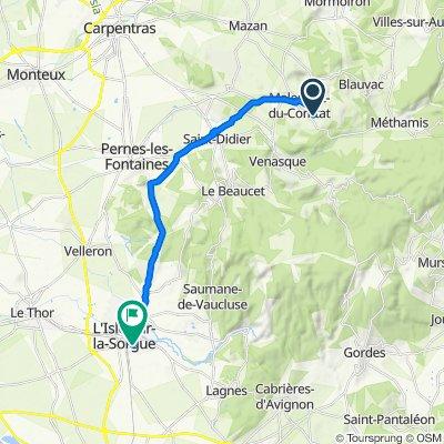 Chemin de l'Annonciade 410, Malemort-du-Comtat nach Lotissement le Clos des Nevons 33, L'Isle-sur-la-Sorgue