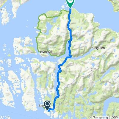 Route from Sløvågen 2, Dalsøyra