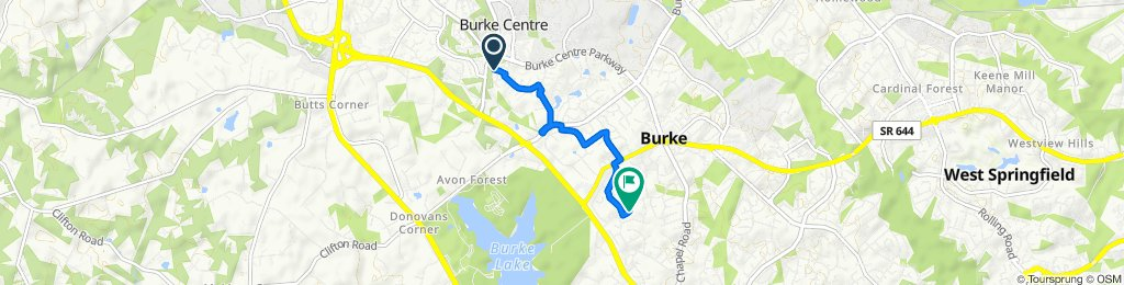 to start of Bike Burke Ride