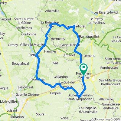 De Rue des Faures 12, Prunay-en-Yvelines à Rue d'Andret 2, Prunay-en-Yvelines