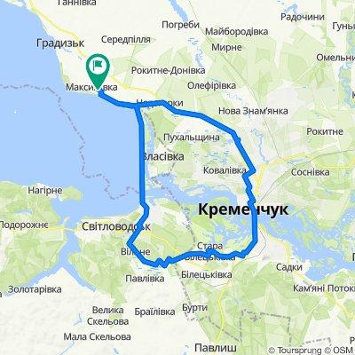 От вулиця Жовтнева, Максимівка до вулиця Жовтнева, Максимівка