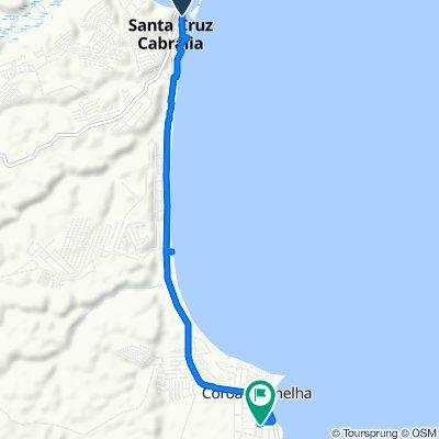 De Avenida Paulo Souto, 575–613, Santa Cruz Cabrália a Rua Ipê, 268–290, Santa Cruz Cabrália