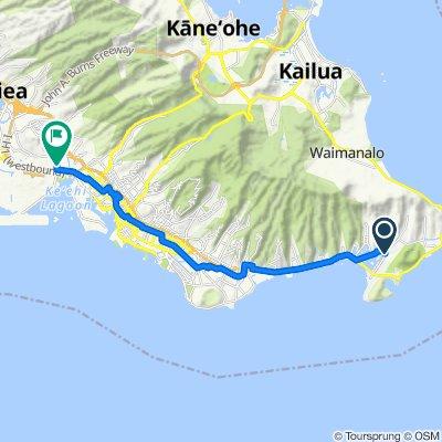 Restful route in Honolulu