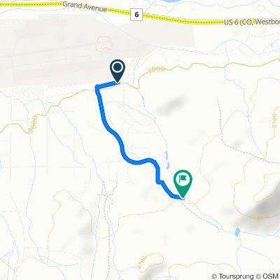 Cooley Mesa Road and Navajo Road W, Gypsum to Hawks Nest Lane 1160, Gypsum