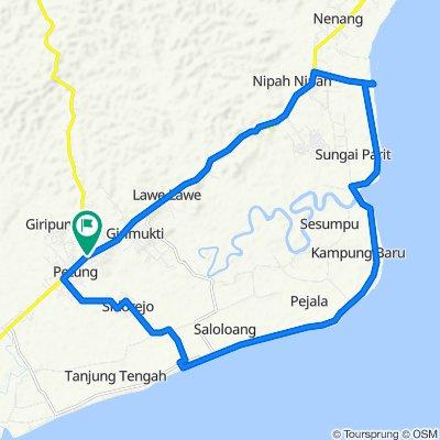 Jalan Penajam - Kuaro to Jalan Penajam - Kuaro