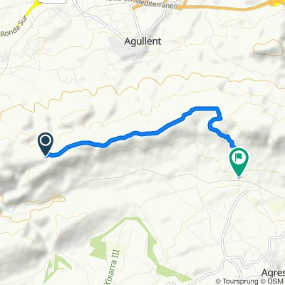 Moderate route in Agres