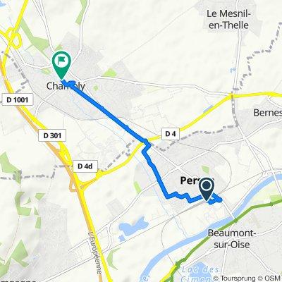 De Avenue de la Gare, Persan à 62 Rue André Caron, Chambly