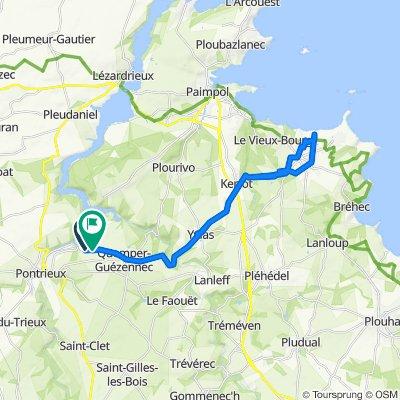 Itinéraire vers 7 Kerlevé, Quemper-Guézennec