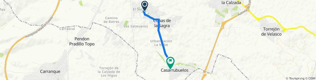 De Calle de los Almendros, 12, Cubas de la Sagra a plazoleta del concejo 5, Casarrubuelos