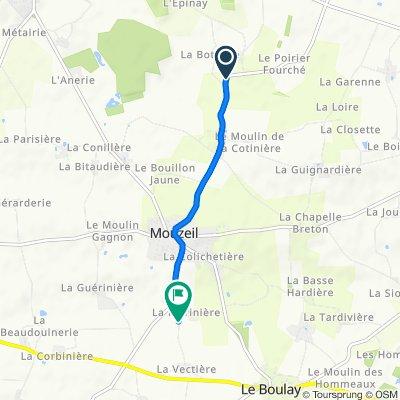 D38, Trans-sur-Erdre naar La Vectière, Mouzeil