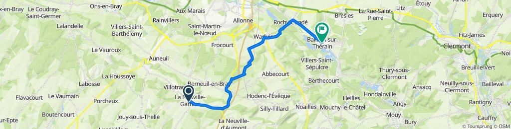 De Gr Grande Rue 27, La Neuville-Garnier à Rue du Général de Gaulle 24, Bailleul-sur-Thérain