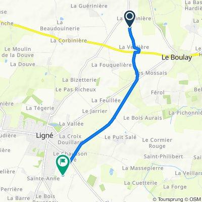 La Vectière, Mouzeil naar Rue Boris Vian 164, Ligné
