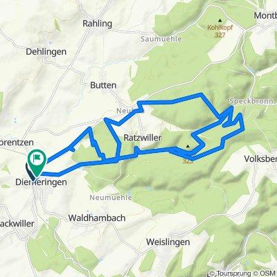 Easy ride in Diemeringen