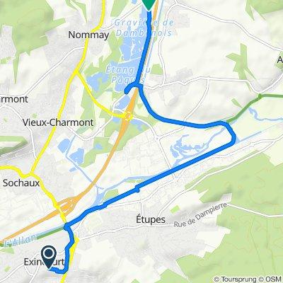 Restful route in Dambenois