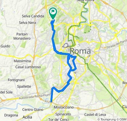 Da Via Giulia Molino Colombini 13, Roma a Via Giulia Molino Colombini 5, Roma