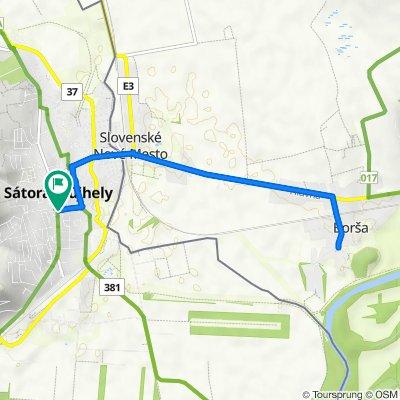 Sátoraljaújhely-Borsi-Sátoraljaújhely